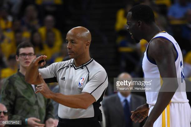468f6d27fa69 Referee Marc Davis calls a technical foul on Draymond Green in the 3rd  quarter of Game 1 of the Spurs-Warriors Western Conference Finals